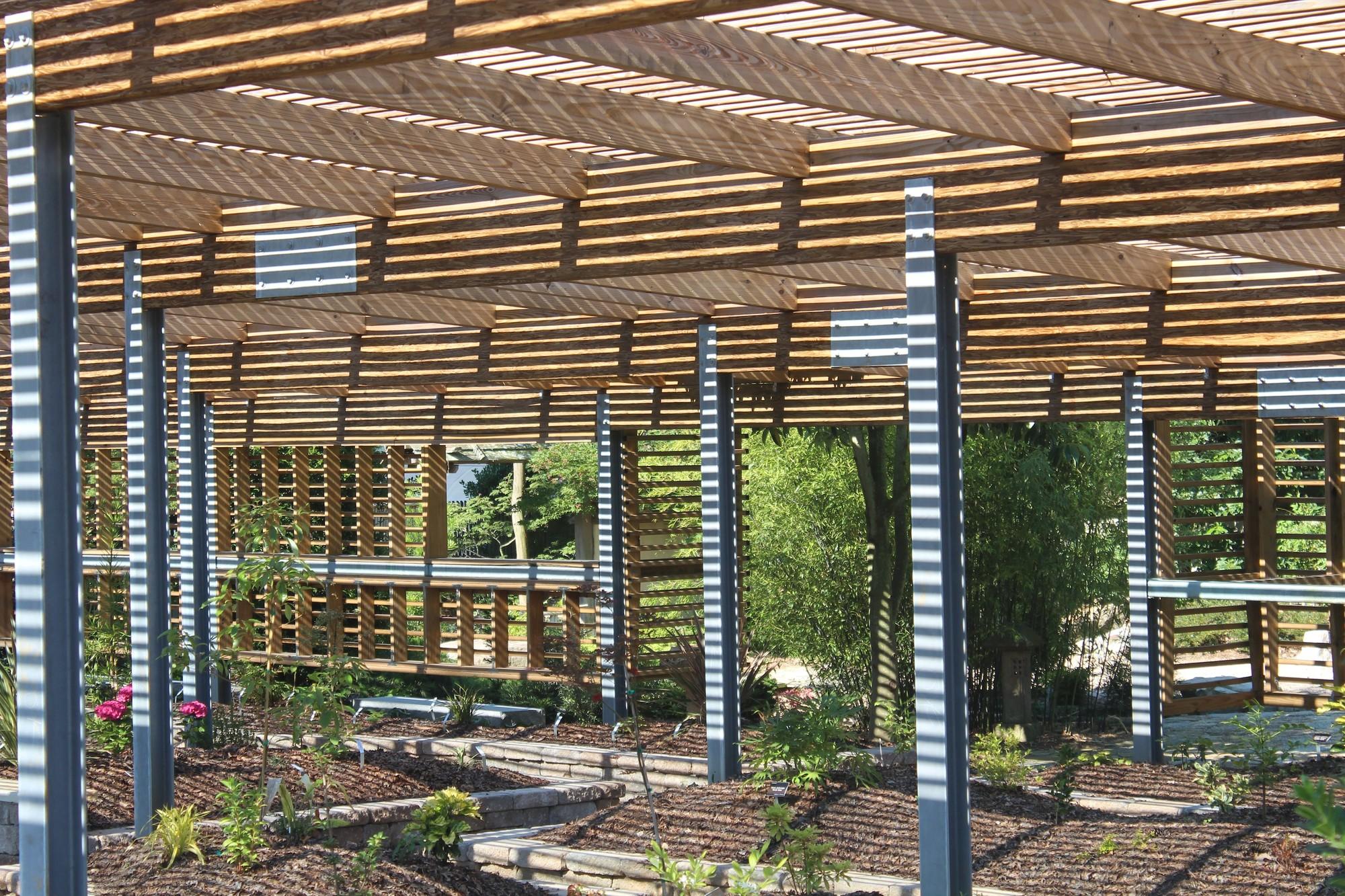Gallery of JC Raulston Arboretum Lath House / Frank Harmon Architect on hvac house plans, hampton house plans, garden house plans,