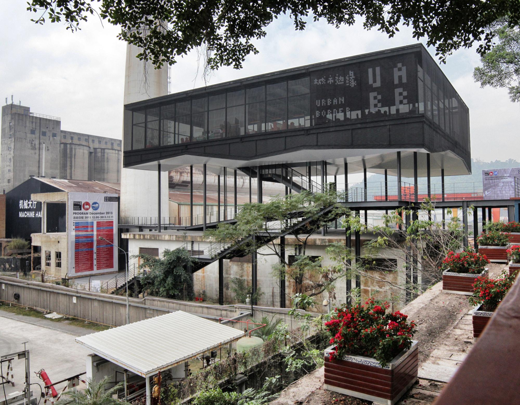 Bienal de Shenzhen: La Value Factory y el Borde Urbano, Pabellón de acceso en la Value Factory © ArchDaily