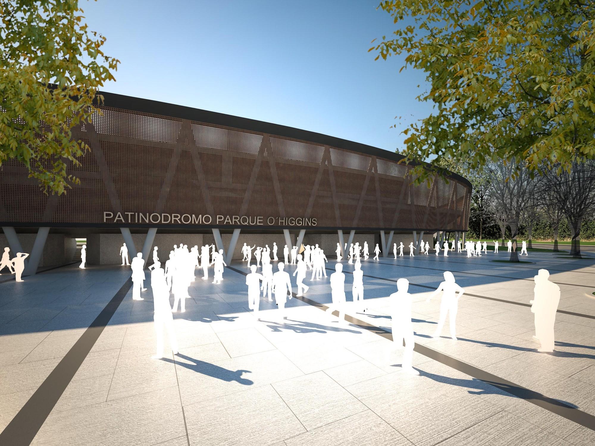 Primer Lugar Concurso Patinodromo Parque O'higgins, Santiago, Courtesy of PLAN Arquitectos