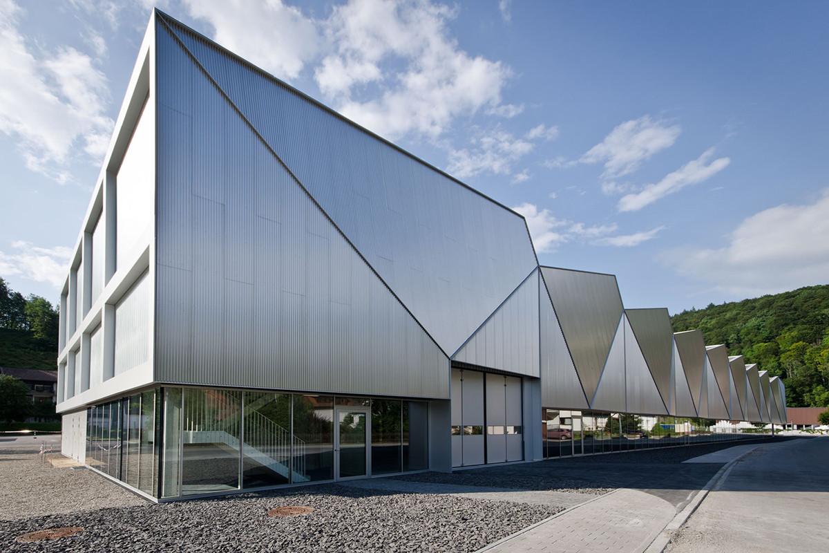 Production Hall Hettingen / Barkow Leibinger, Frank Barkow, Regine Leibinger, © Ina Reinecke