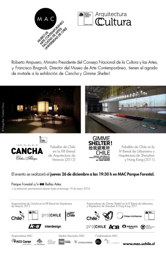 Este jueves se inaugura exhibición de Pabellones Cancha y Gimme Shelter! en MAC de Santiago, Courtesy of Consejo de la Cultura