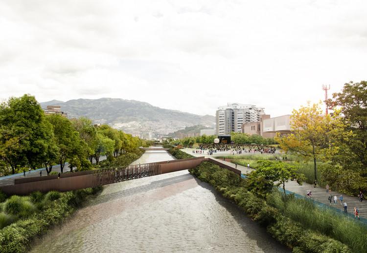 Primeiro Lugar no concurso internacional para o Parque do Rio em Medellín, Cortesia da Equipe Primeiro Lugar