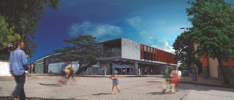 Segundo Lugar no concurso para o Centro Cultural e Educacional da cidade de Diamante, Argentina, Cortesia da Equipe Segundo Lugar