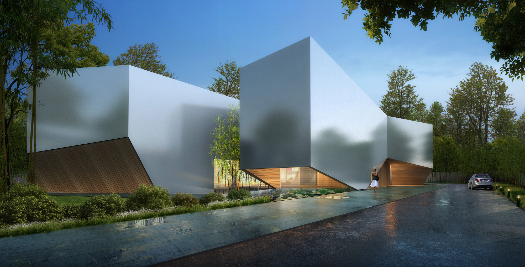 Shanghai Flower Garden Square Real Time Architecture