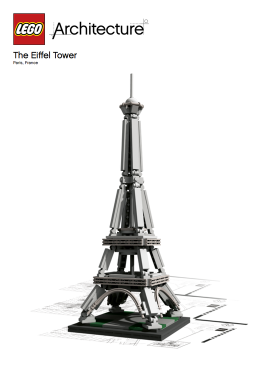 LEGO® Architecture Landmark Series: Torre Eiffel, The Eiffel Tower. Image © LEGO® Architecture