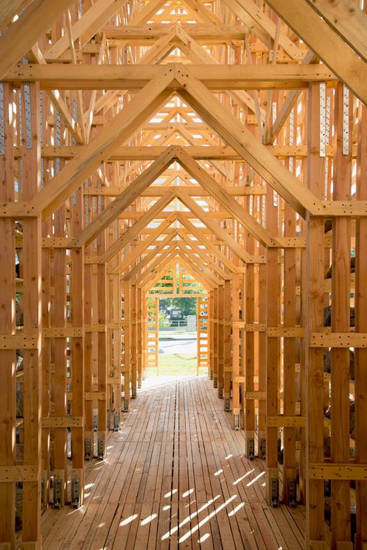 """Arte y Arquitectura: Instalación Temporal """"Mine Pavilion"""" por Pezo Von Ellrichshausen, © Cristobal Palma, Cortesía de Pezo von Ellrichshausen"""