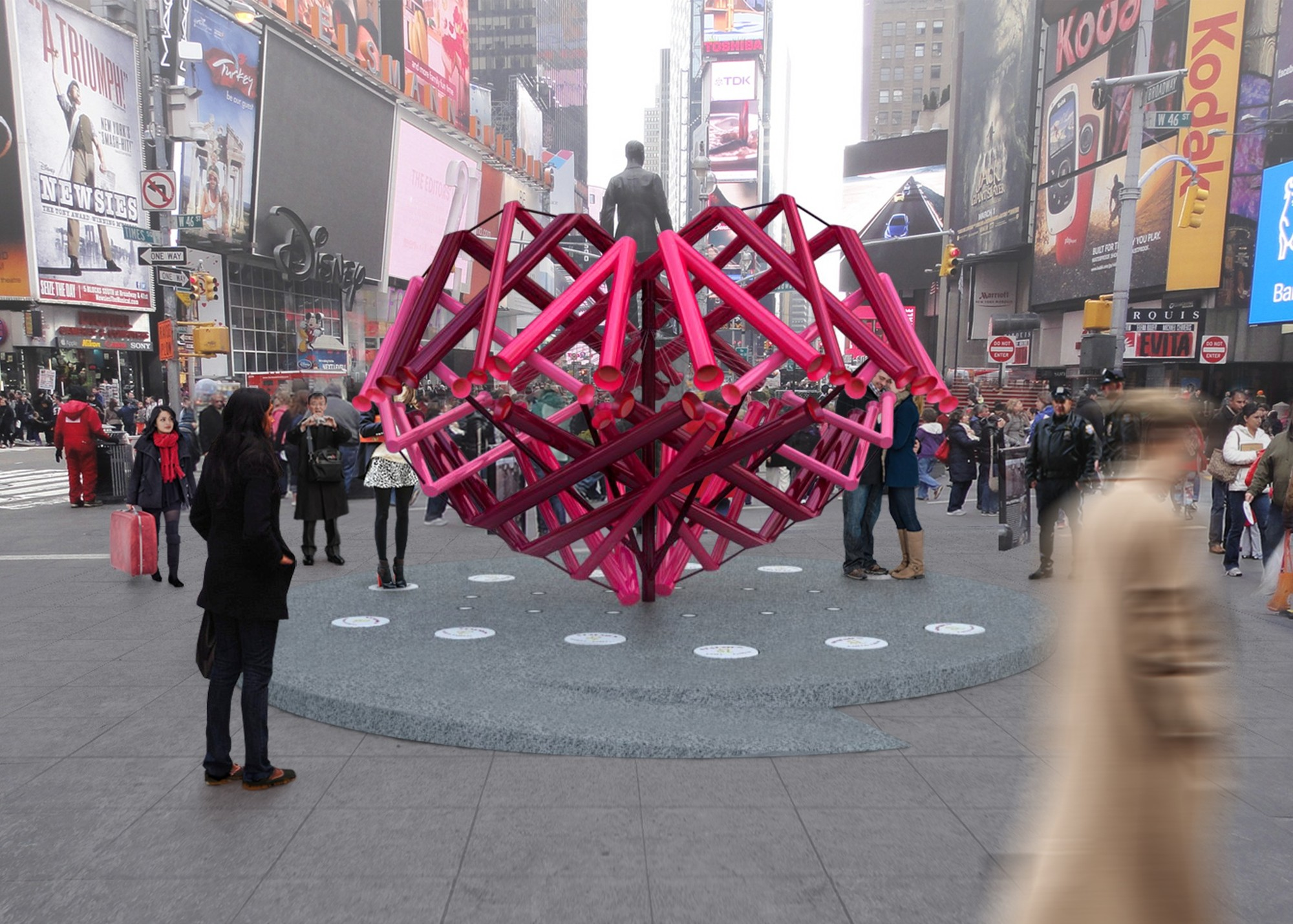"Young Projects to Design ""Match-Maker"" Heart for Times Square, © Young Projects"