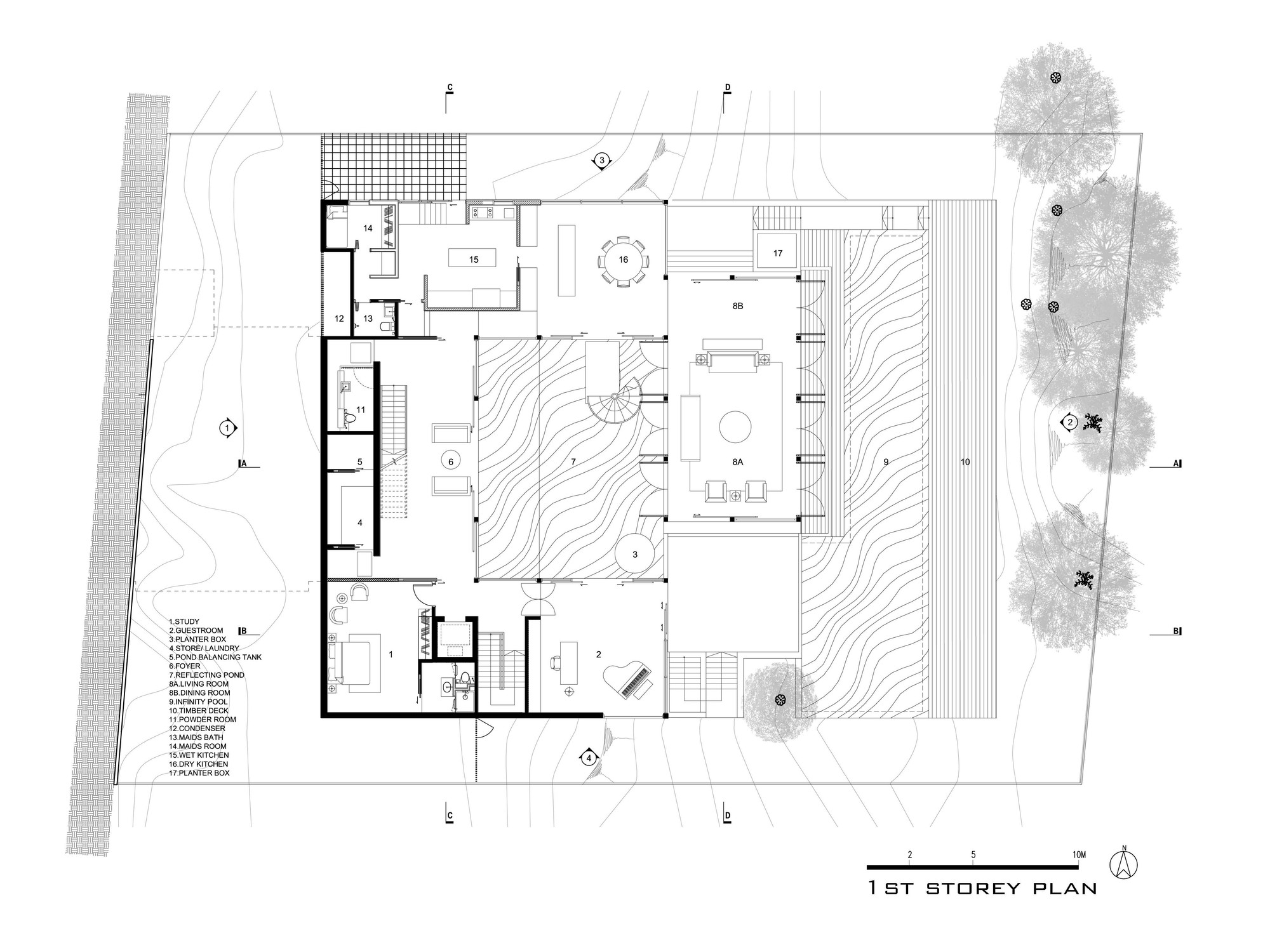 Hillside House,First Floor Plan