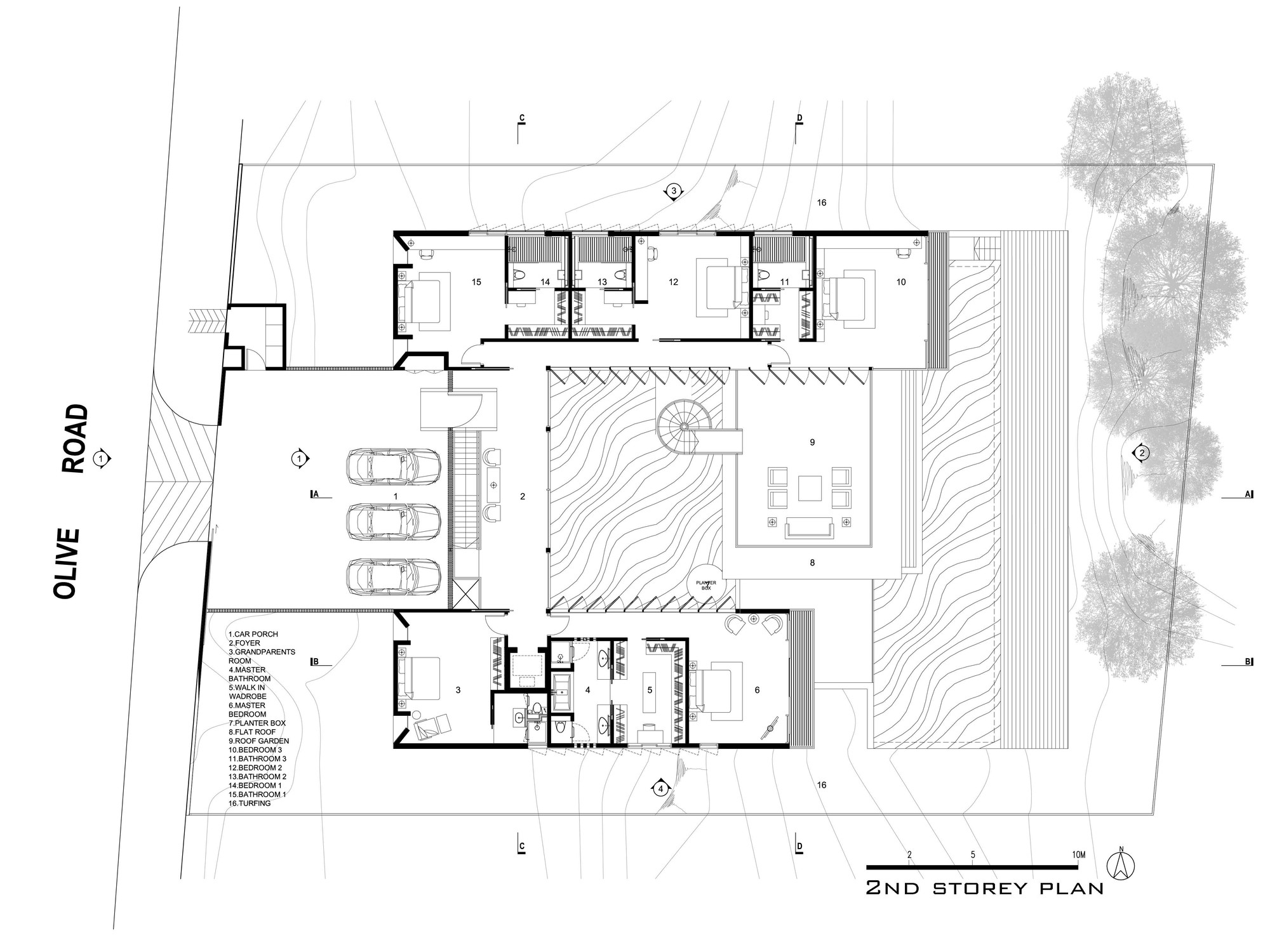 Hillside House,Second Floor Plan