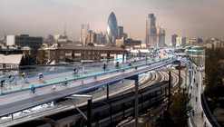 "Norman Foster-Designed Scheme Aims to Transform London into ""Cycling Utopia"""