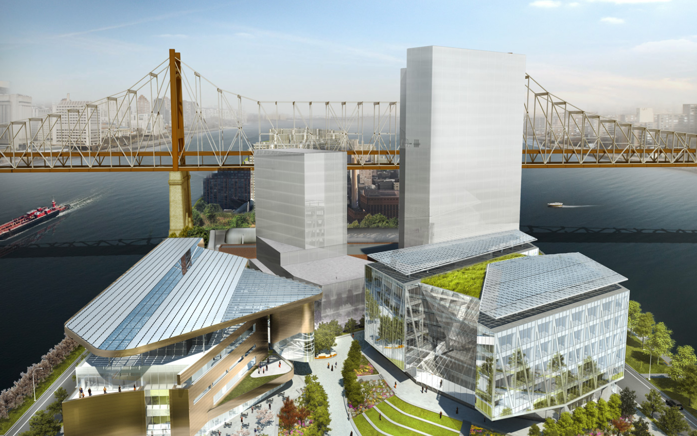 New Images Unveiled of Cornell Tech's Roosevelt Island Campus , © Kilograph