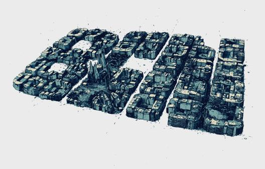 Arte y Arquitectura: BCN Typography por Simon Prades, © Behance, Simon Prades