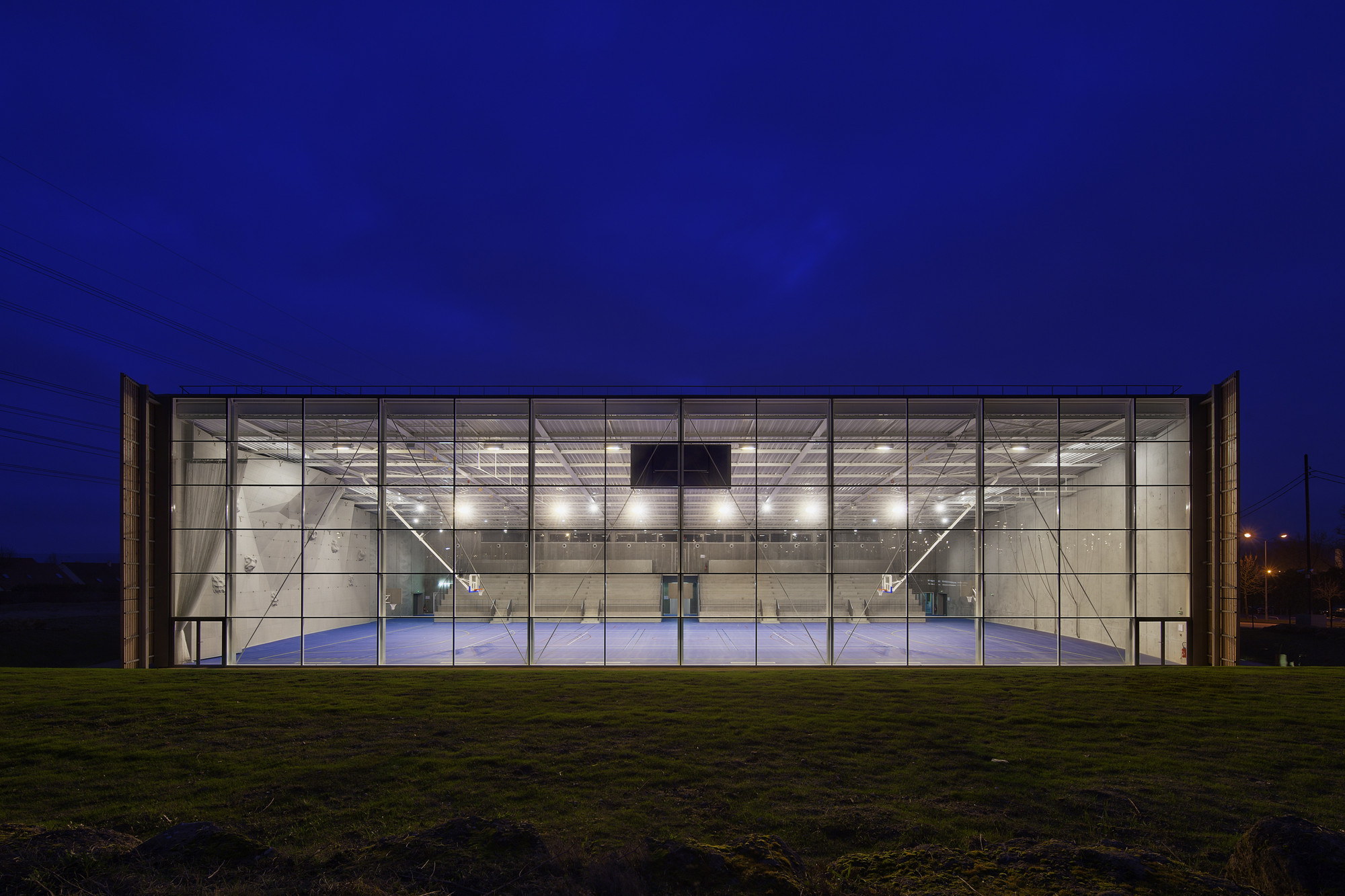 Lardy Sports Hall Explorations Architecture Archdaily