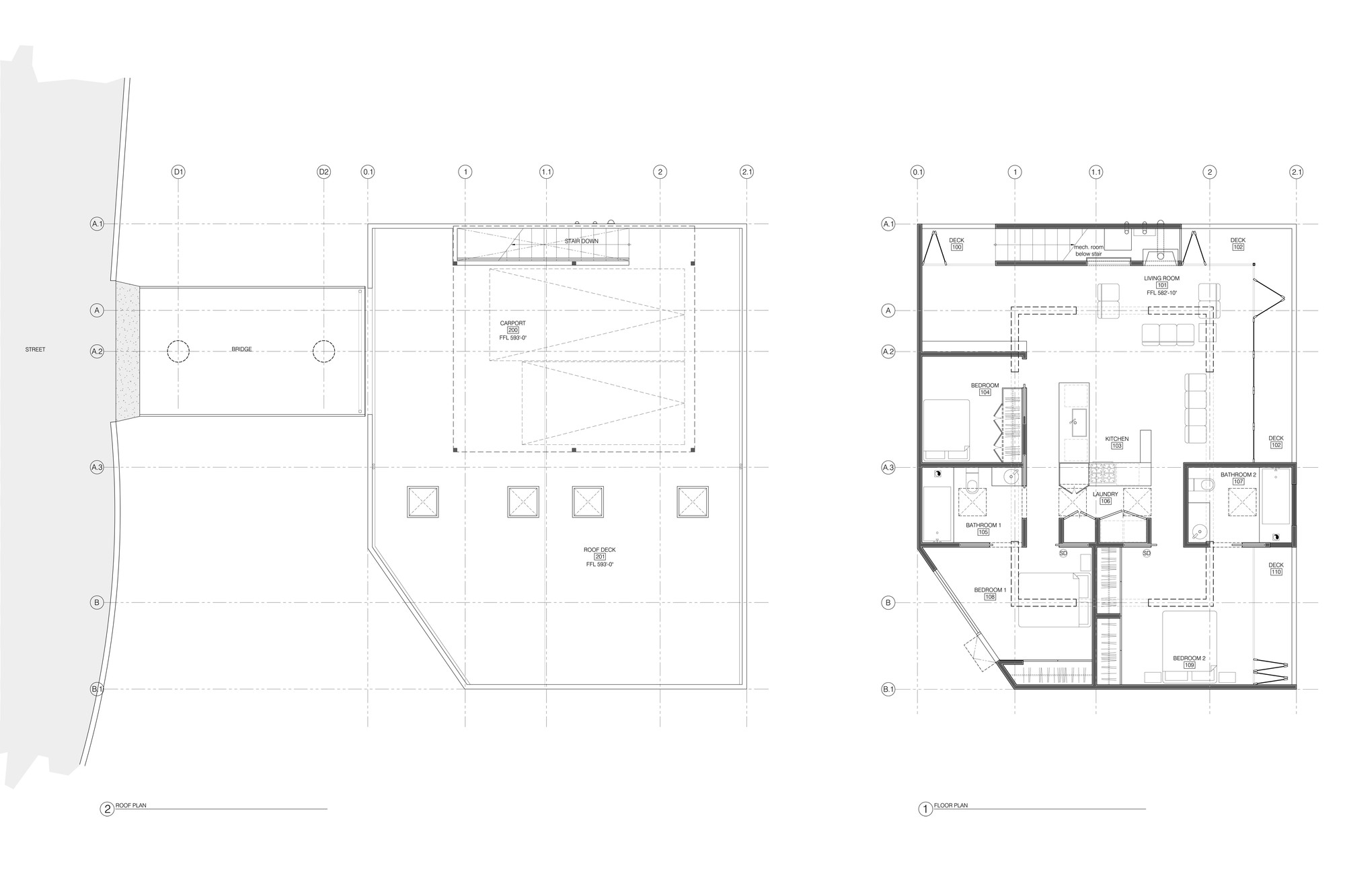 Gallery of car park house anonymous architects 14 for House plans louisiana architects