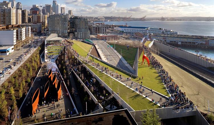 Projeto Urbano: Olympic Sculpture Park, unir a cidade à orla, © Benjamin Benschneider