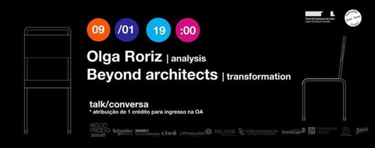 Ciclo de palestras SHEDTALKS com Olga Roriz e Beyond architects, em Lisboa