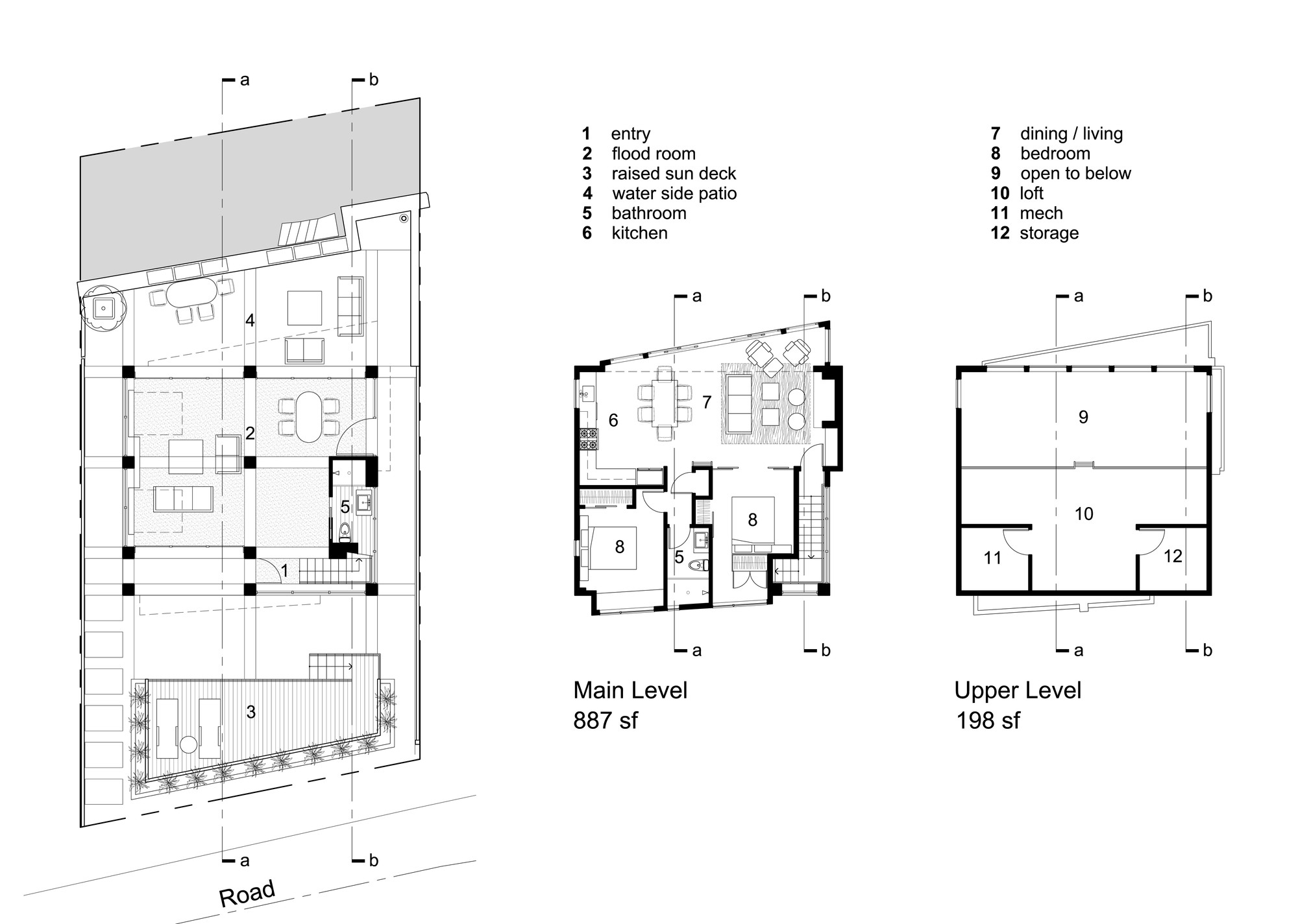 Tsunami House,Floor Plan