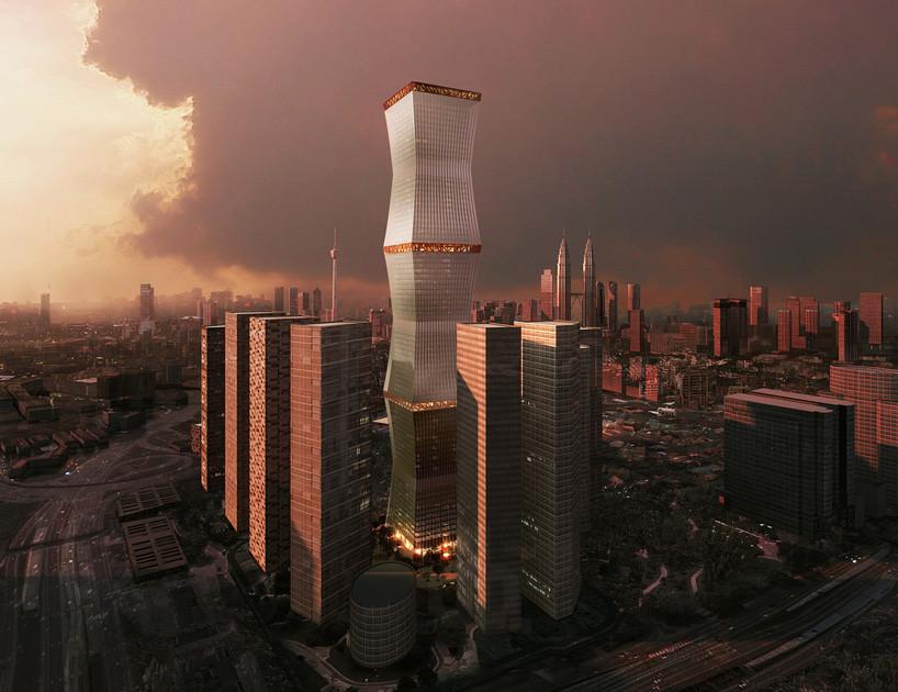 Capa textil retráctil envuelve el nuevo Rascacielos de REX Architecture