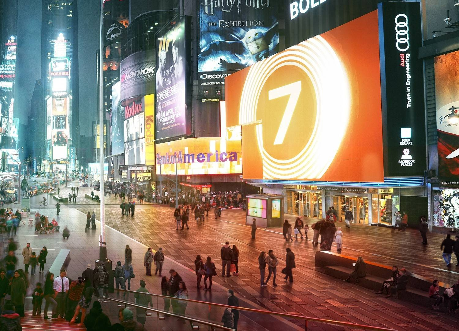 Snohetta Makes Times Square Permanently Pedestrian, Courtesy of Snøhetta