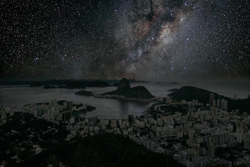 """""""Ciudades Oscuras"""" de Thierry Cohen: Cómo veríamos nuestras ciudades sin luz durante la noche, Rio de Janeiro. Image © Thierry Cohen"""