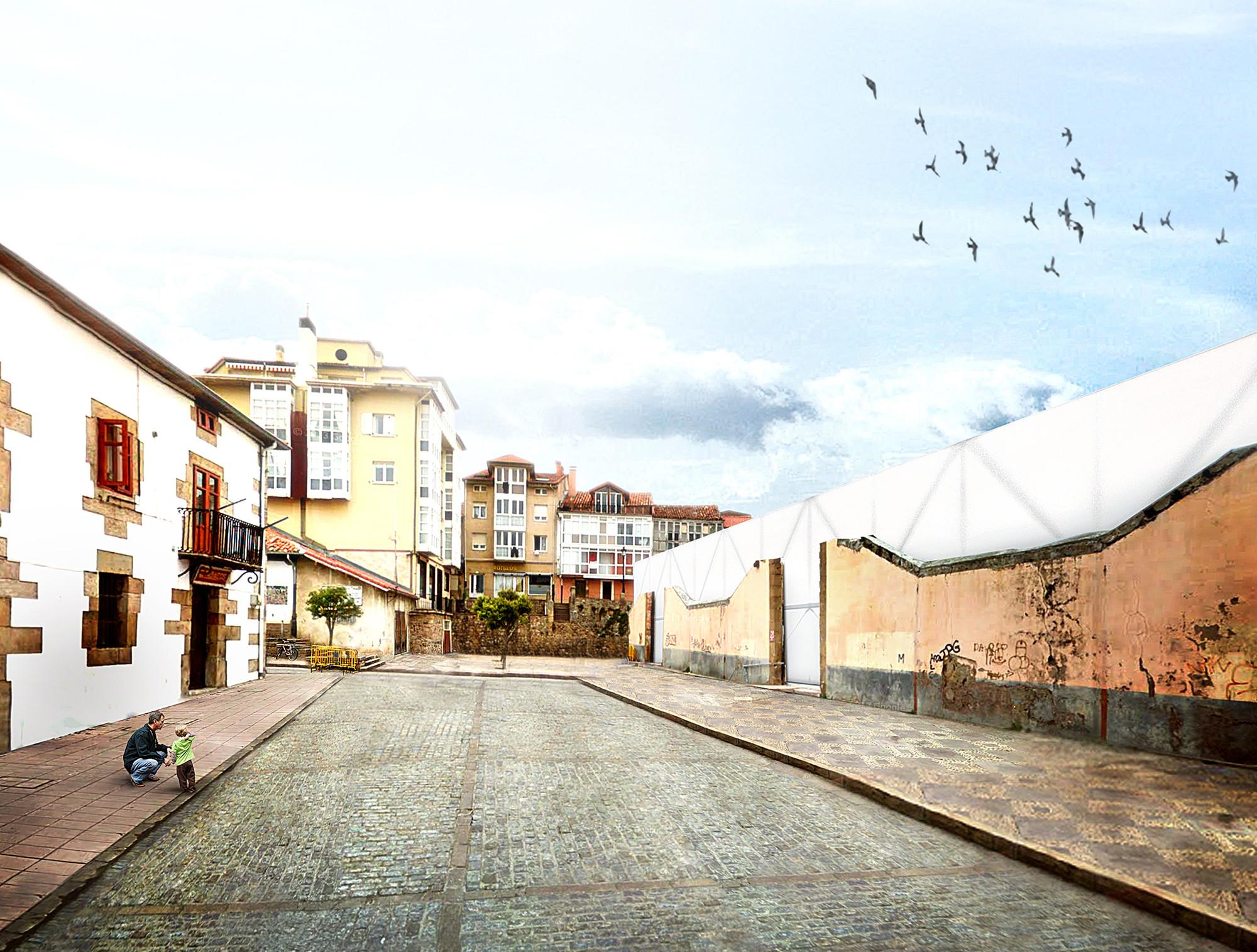Mención Honrosa Concurso Centro Sociocultural en Reinosa: Muro Minimal / Tremillimetri