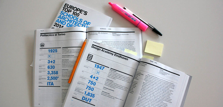 Top 100 Escolas de Arquitetura e Design da Europa