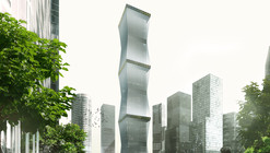 """REX propõe fachada retrátil para a """"Equator Tower"""" na Malásia"""
