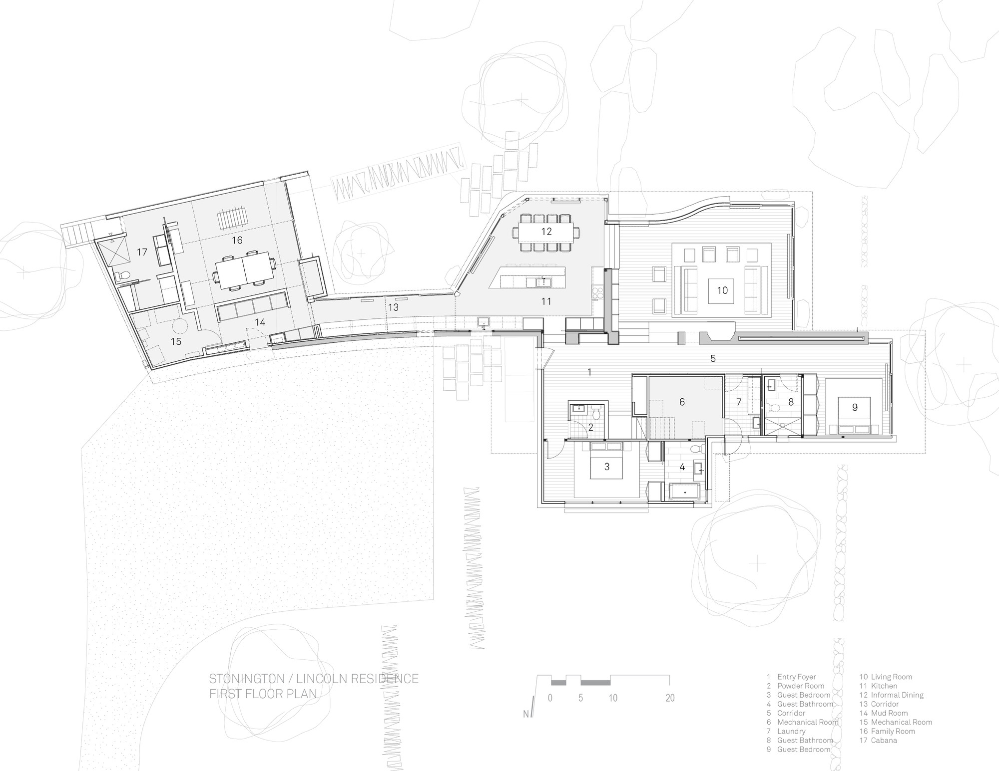 stonington residence joeb moore partners archdaily first floor plan