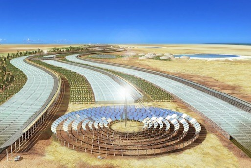Exploration Architecture: Designing With Nature, The Sahara Forest Project.  Courtesy The Sahara Forest