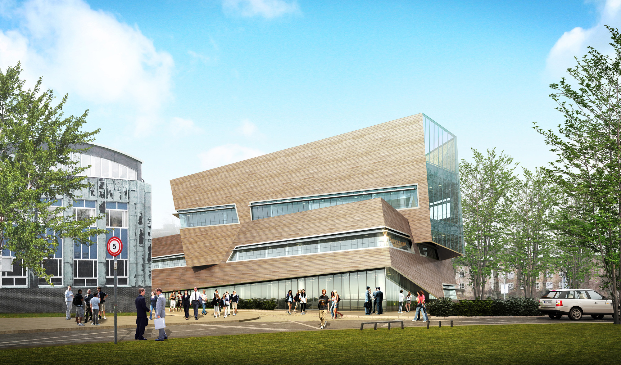 Libeskind Reveals Timber Physics Building for Durham University , Courtesy of Studio Daniel Libeskind