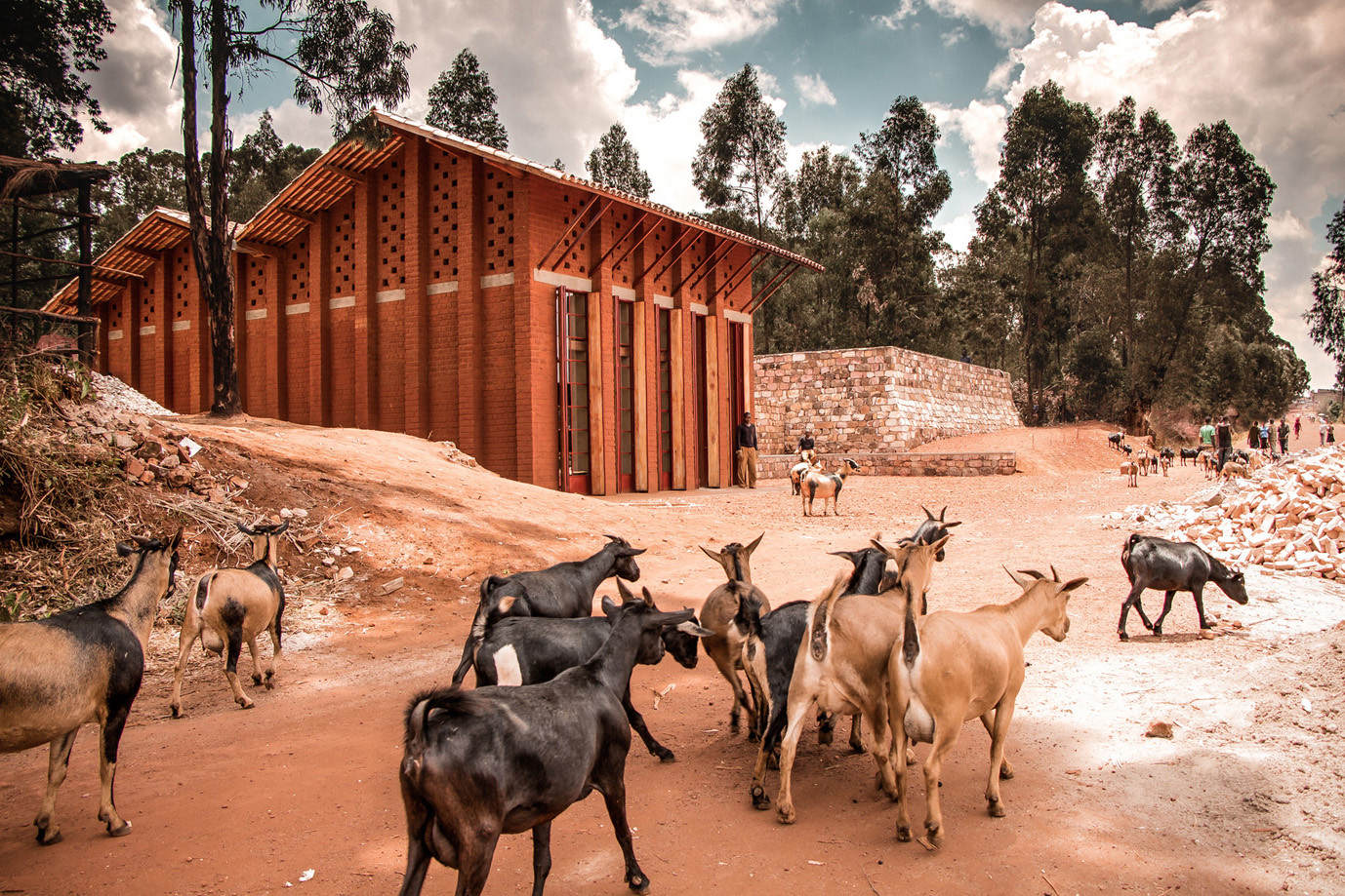 library  muyinga bc architects archdaily
