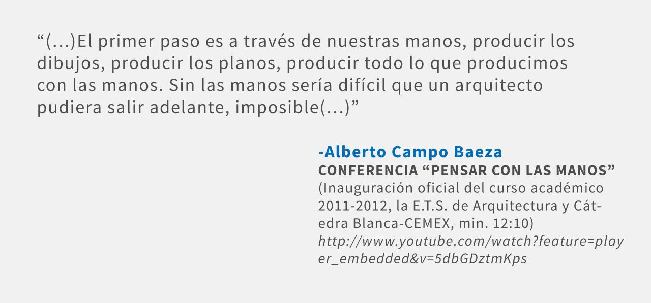 Frases: Alberto Campo Baeza