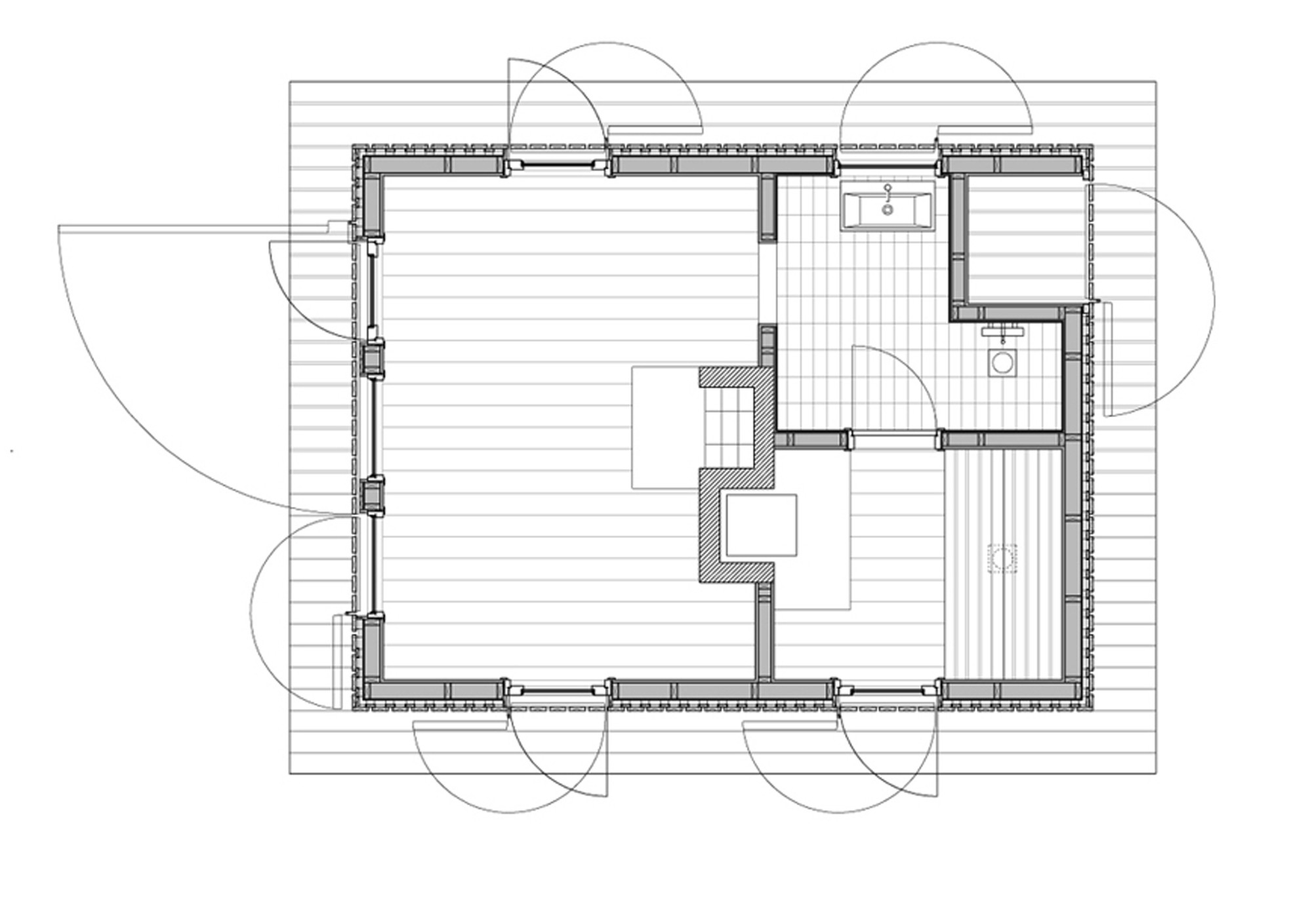 Gallery of sauna general architecture 7 for Sauna floor plans