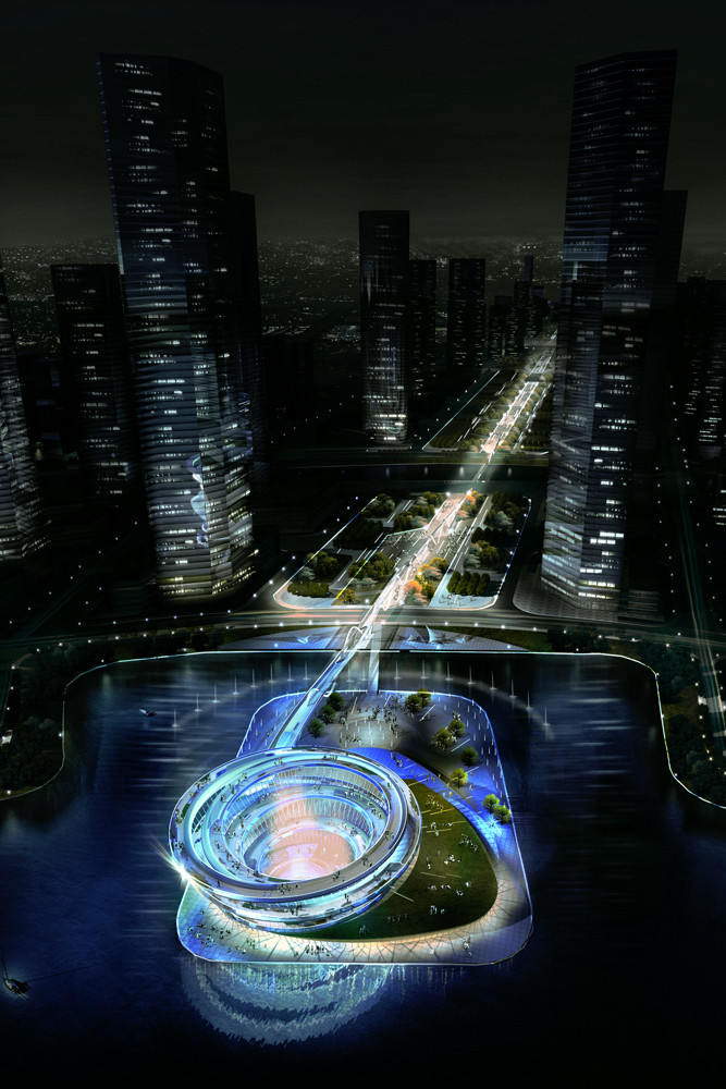 KSP Designs Floating 'Urban Helix' for Changsha