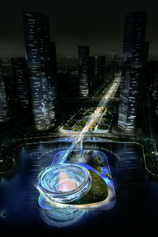 KSP Designs Floating 'Urban Helix' for Changsha , Courtesy of KSP Jürgen Engel Architekten