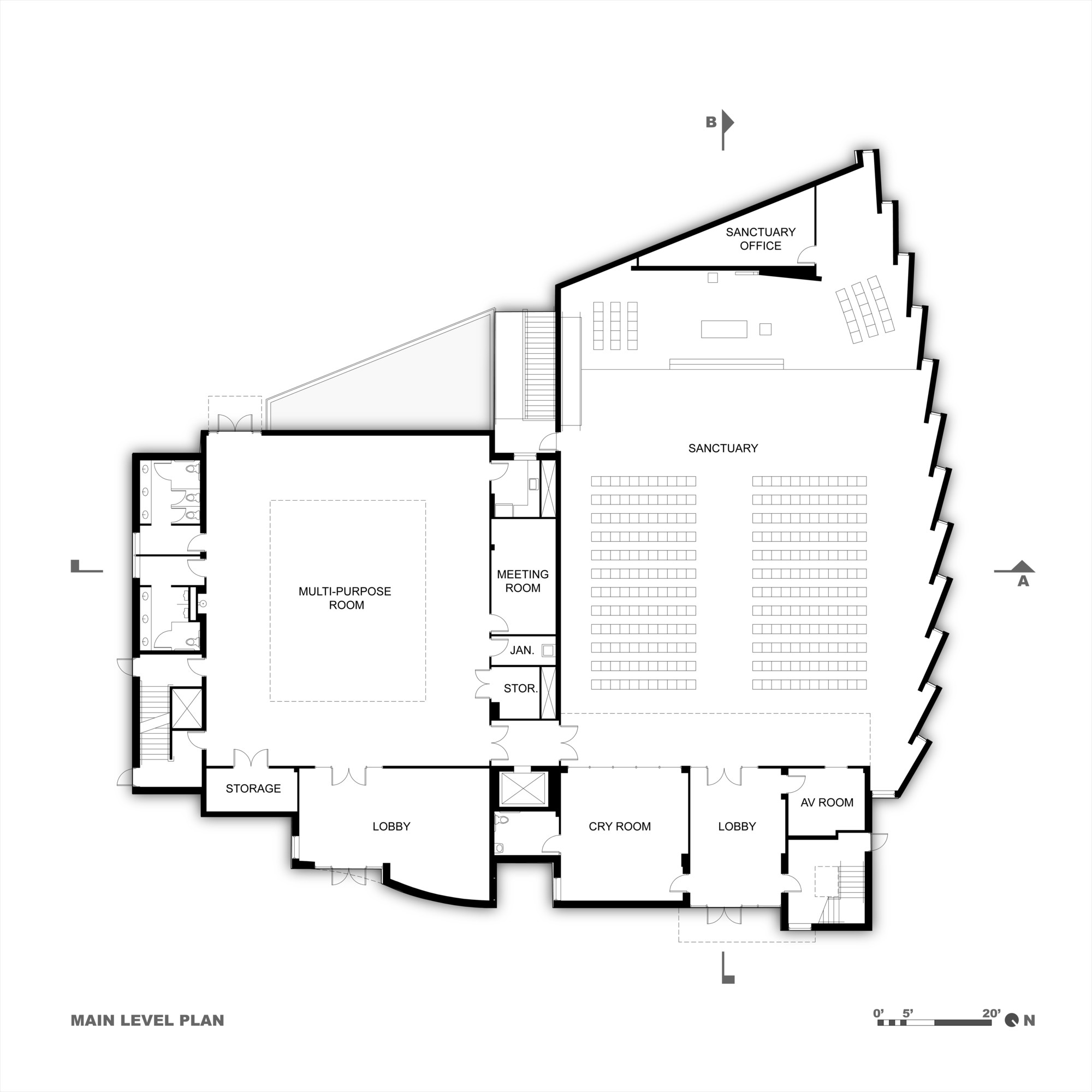 Korean presbyterian church arcari iovino architects for Floor plan church