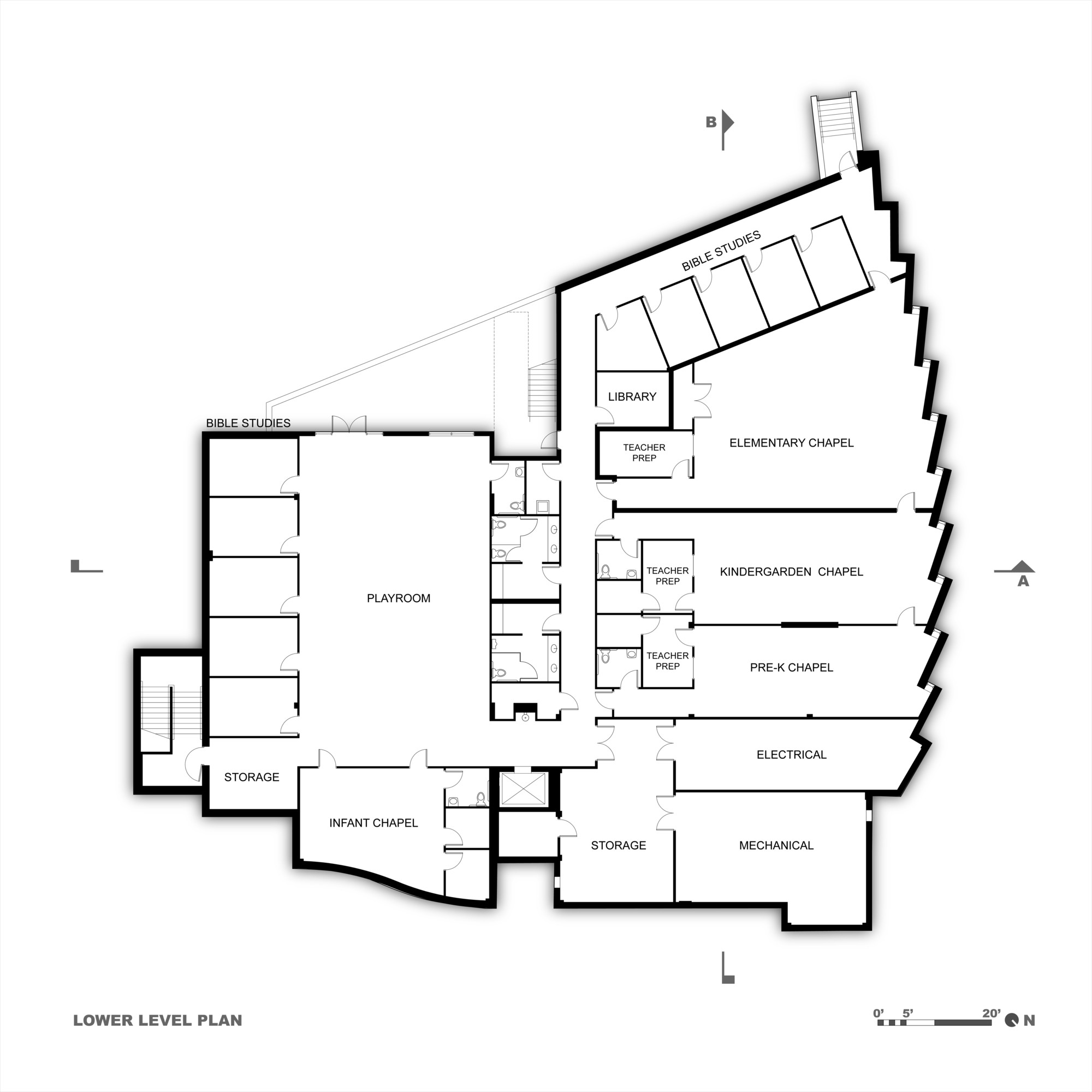 Bakery Design Floor Plan Gallery Of Korean Presbyterian Church Arcari Iovino