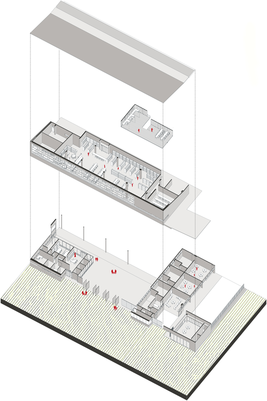 Primer lugar concurso p blico para el dise o de colegios for Programa arquitectonico biblioteca