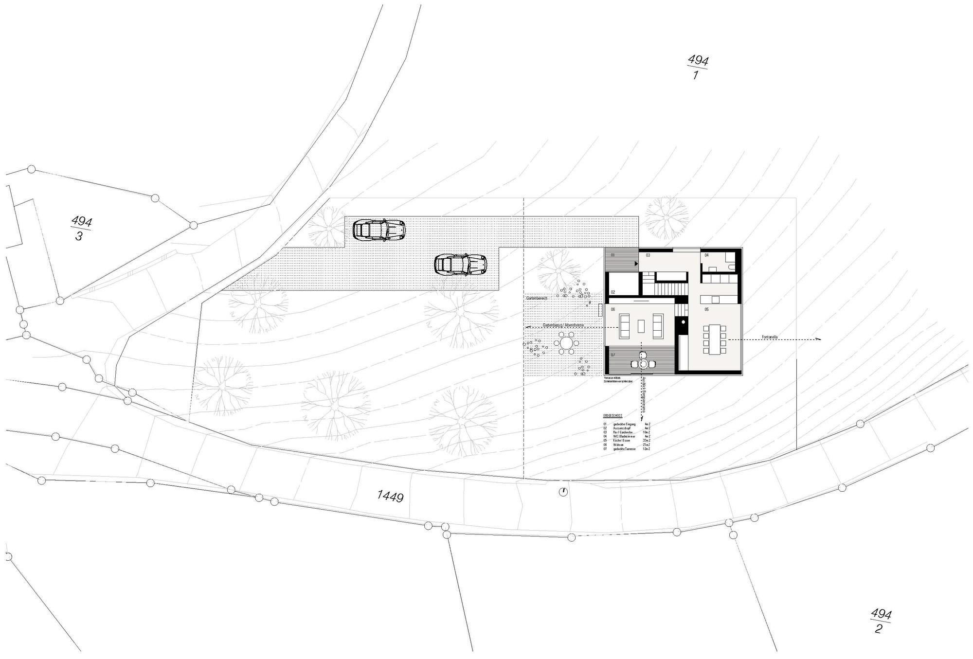 Exceptional Haus Fontanella,Site Plan