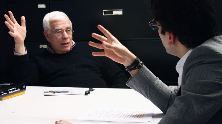The Contentious Legacy of the IAUS, Peter Eisenman, the founder of IAUS. Image Courtesy of an-onymous.com