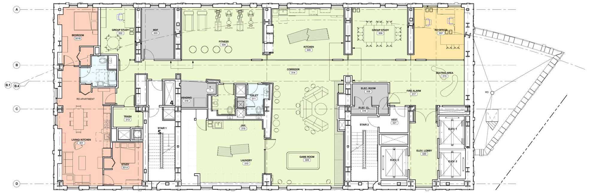 Gallery of massachusetts college of art and design s for Drawing hall design
