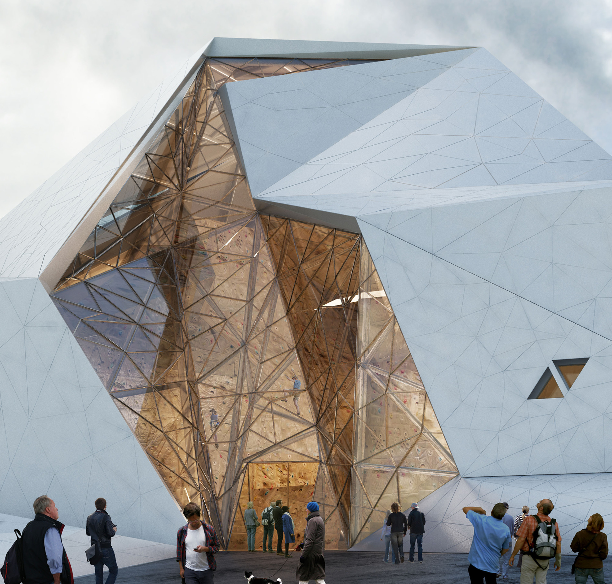 New Wave Architecture Designs Rock Gym For Polur Archdaily