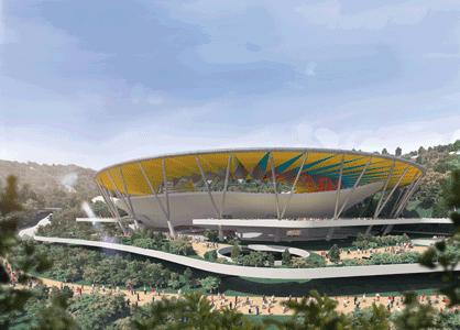 Richard Rogers participará en diseño de Parque Hugo Chávez en Caracas, Propuesta Estadio de Fútbol. Image Courtesy of Alcaldía de Caracas