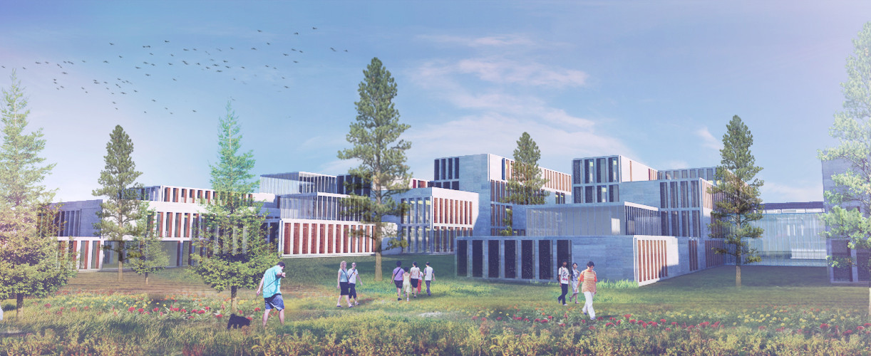 "Marc Koehler and ONZ Design Massive, ""Ultra-Modern"" Campus in Turkey, View. Image Courtesy of Marc Koehler / ONZ Architects"