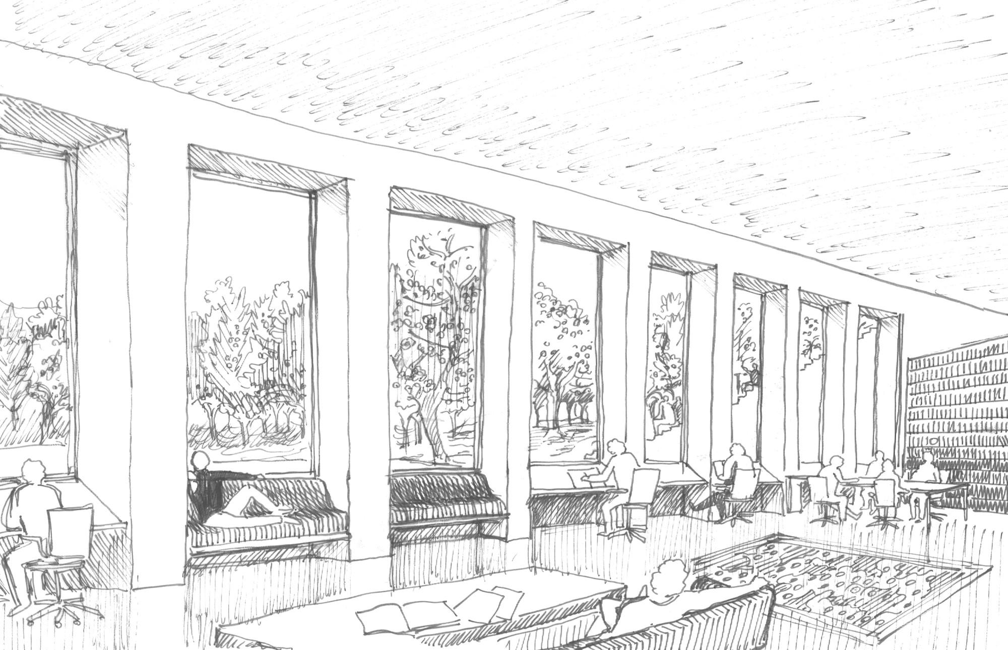Interior Design Line Art : Marc koehler and onz design massive quot ultra modern campus