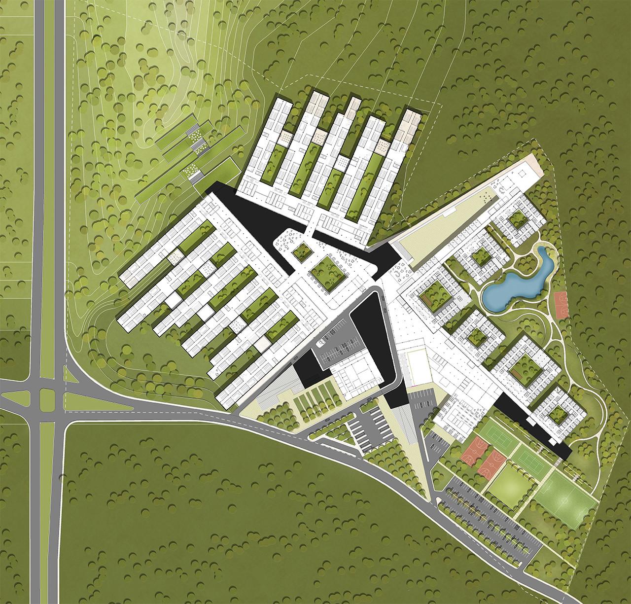 Marc koehler and onz design massive ultra modern campus in turkey site plan