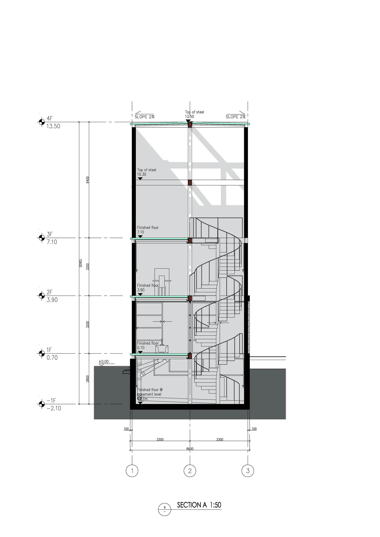 gallery of vertical glass house atelier fcjz 17
