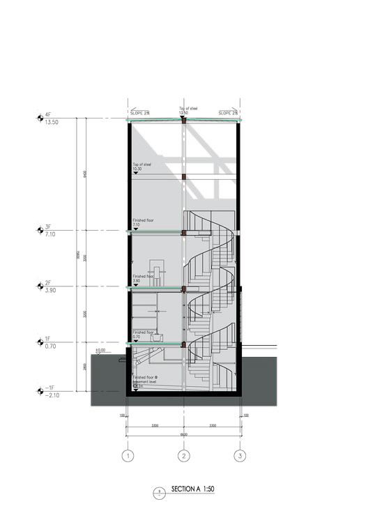 Vertical glass house atelier fcjz archdaily - Glass house show ...