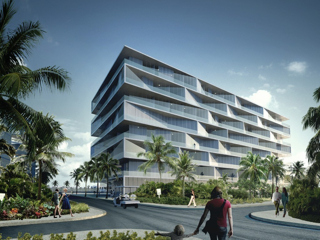 Big unveils honeycomb condominium for bahamas resort for Big architecte