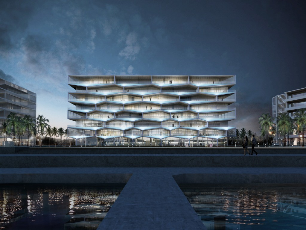 "BIG Unveils ""Honeycomb"" Condominium for Bahamas Resort, © BIG"